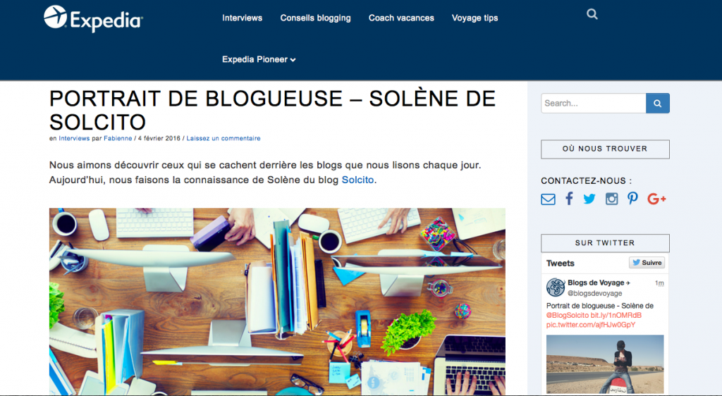 Interview Solcito blog Expedia
