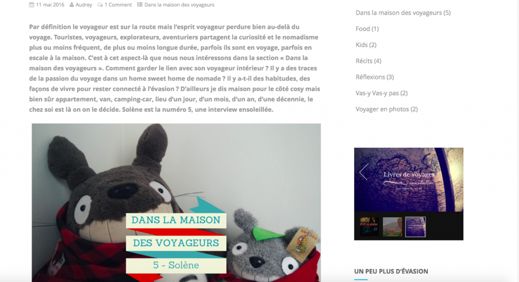 Interview blog Autour des voyages