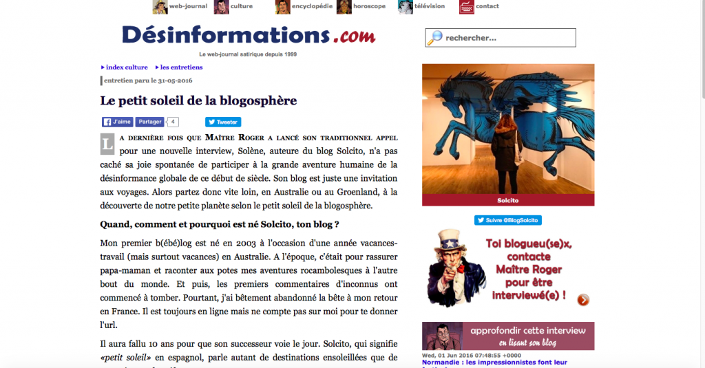 Interview Blog Désinformations
