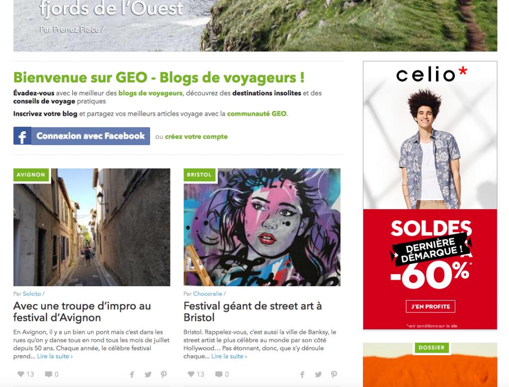Solcito magazine Geo