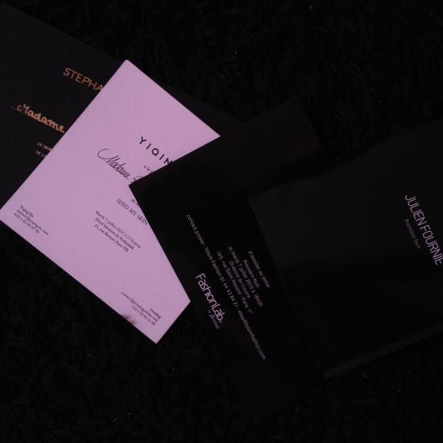Invitations Fashion Week