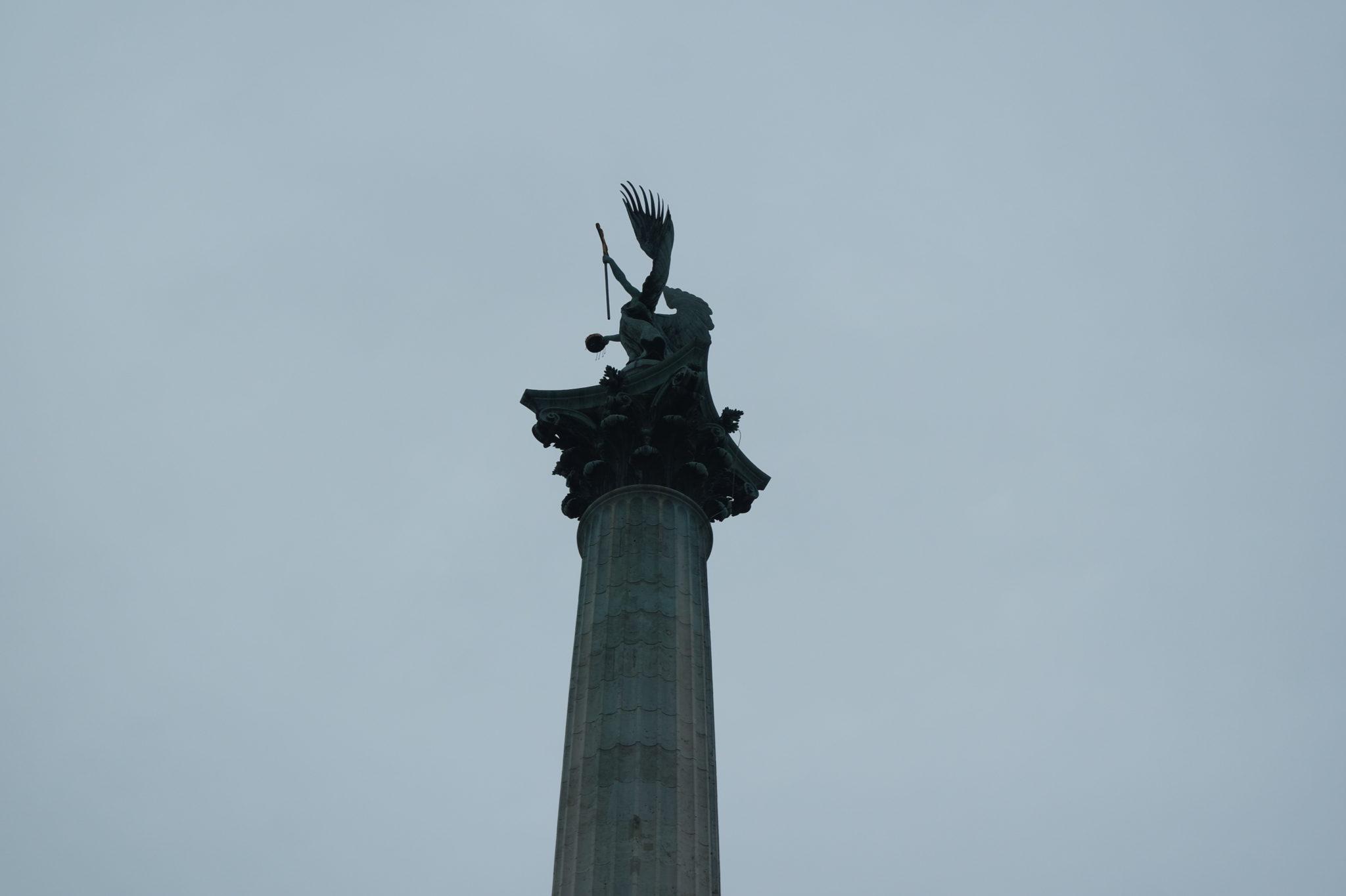 Budapest en hiver place des héros