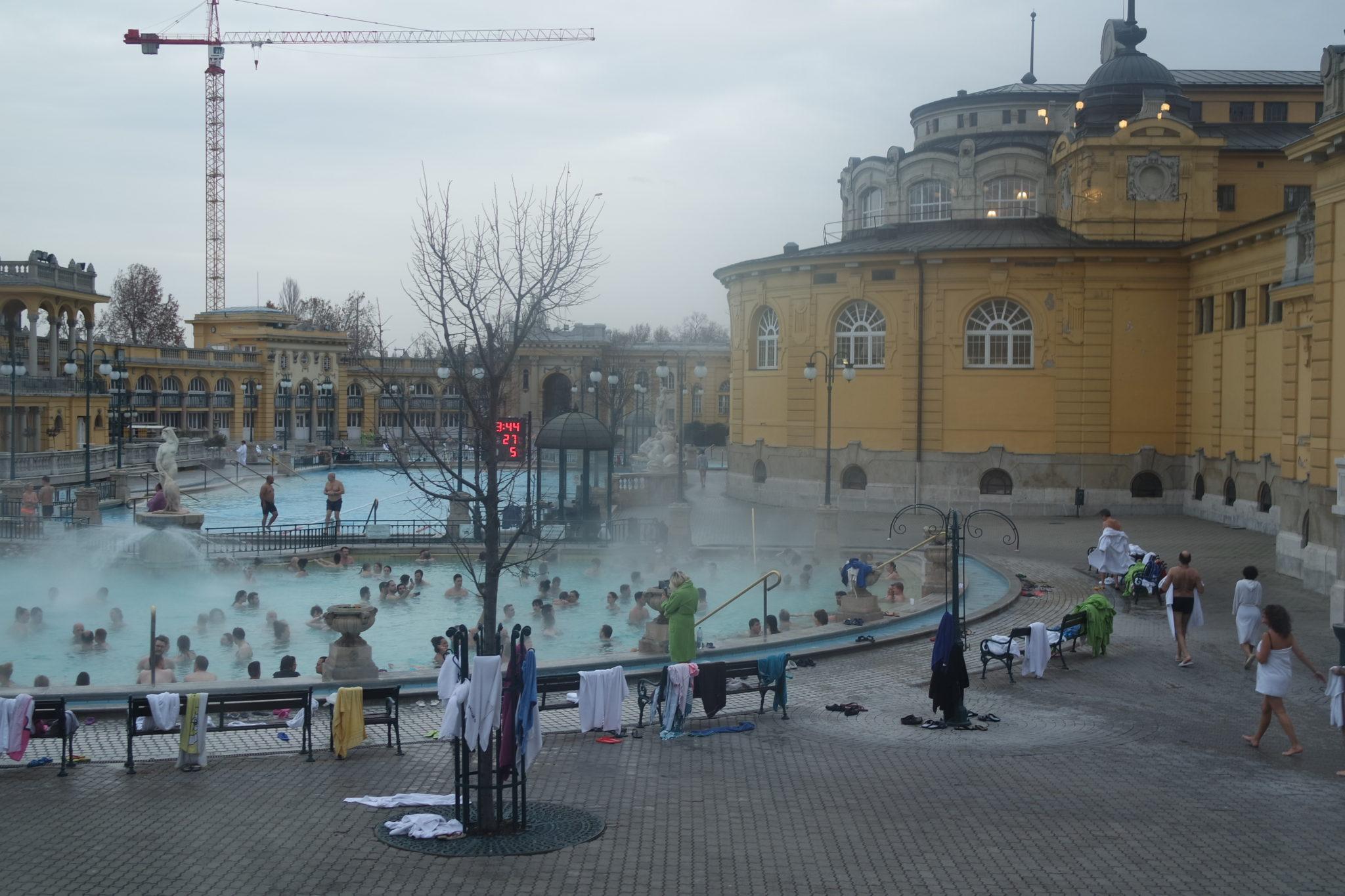 Budapest en hiver Bains Széchenyi