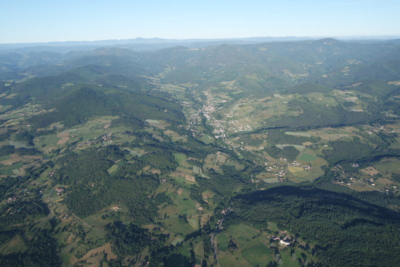 Vue montgolfière Annonay