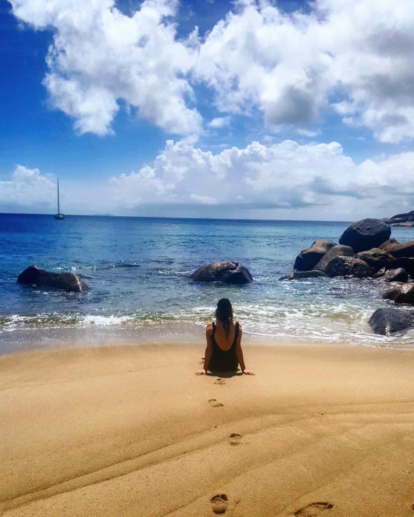 Plage paradisiaque Seychelles