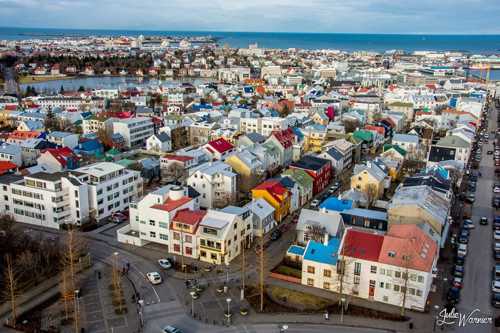 Reykjavik et son égliseHallgrimskirkja